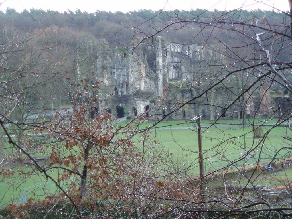Les ruines de l'abbaye de Villers-la-Ville, vues du sentier n° 85 (Baisy-Thy)