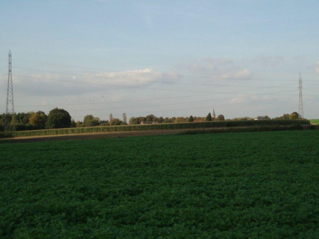 Panorama vers Céroux vu du sentier n° 44 à Bousval