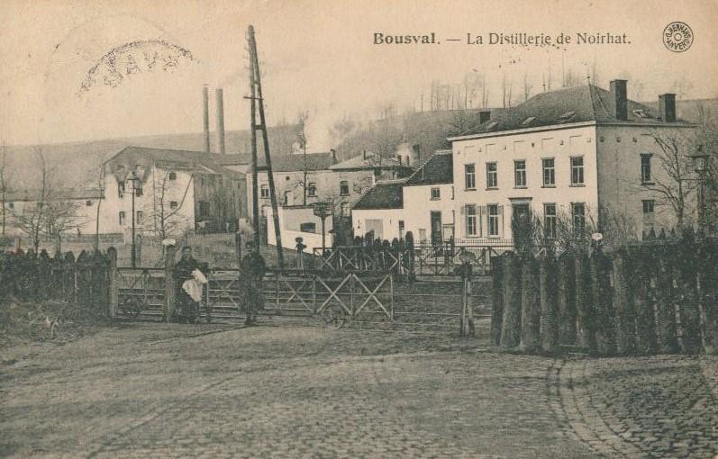 Distillerie de Noirhat de Auguste De Broux (côté chemin de fer)