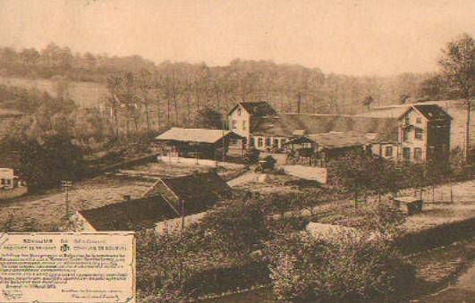 Établissement des Sources de Bousval : vue panoramique vers 1930
