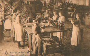 Sources de Bousval : Étiquetage des bouteilles (vers 1930)