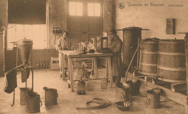 Sources de Bousval : le laboratoire (vers 1930)