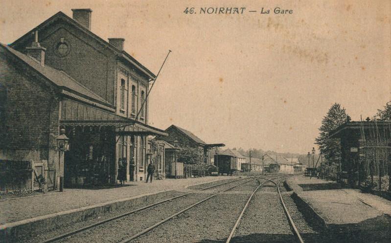 Carte postale du quai de l'ancienne gare de Noirhat